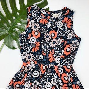 Maison Jules Fit & Flare Dress Floral Flowers S